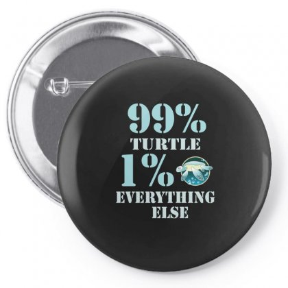 99%  Turtle 1% Eveything Else Pin-back Button Designed By Hoainv
