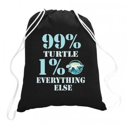 99%  Turtle 1% Eveything Else Drawstring Bags Designed By Hoainv