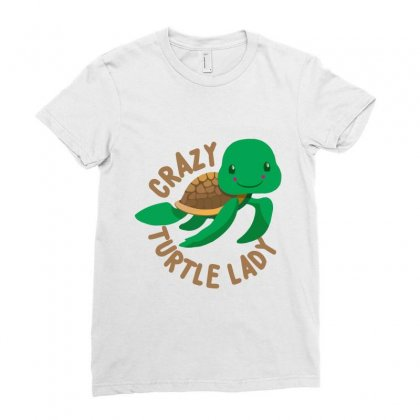 Crazy Turtle Lady Ladies Fitted T-shirt Designed By Hoainv