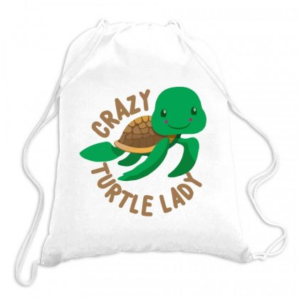 Crazy Turtle Lady Drawstring Bags Designed By Hoainv