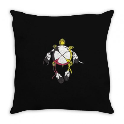 Cute Turtle Dreamcatcher Throw Pillow Designed By Hoainv