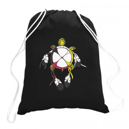 Cute Turtle Dreamcatcher Drawstring Bags Designed By Hoainv