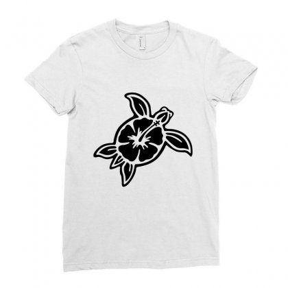Cute Turtle Ladies Fitted T-shirt Designed By Hoainv