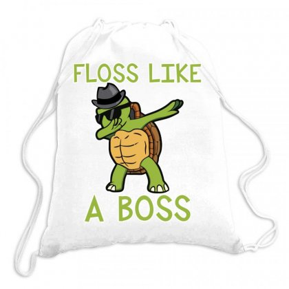 Dabbing Turtle Flosss Like A Boss Drawstring Bags Designed By Hoainv