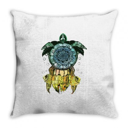 Dreamcatcher Flower Of Life Turtle T Shirt Throw Pillow Designed By Hoainv