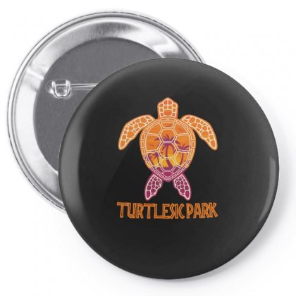 Funny Turtlepark Pin-back Button Designed By Hoainv