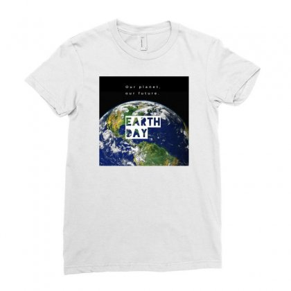 Earth Ladies Fitted T-shirt Designed By Vj575789