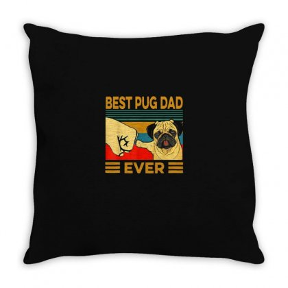 Pug Dad Throw Pillow Designed By Disgus_thing