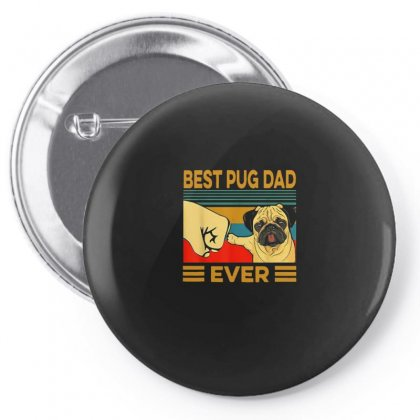 Pug Dad Pin-back Button Designed By Disgus_thing