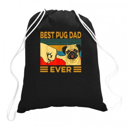 Pug Dad Drawstring Bags Designed By Disgus_thing