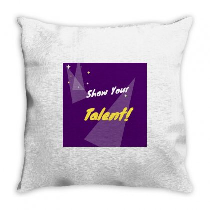 Talent Throw Pillow Designed By Vj575789