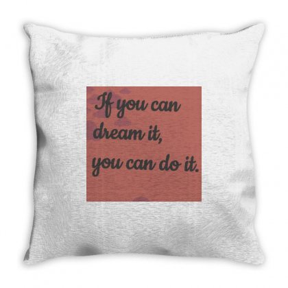 Dream Throw Pillow Designed By Vj575789