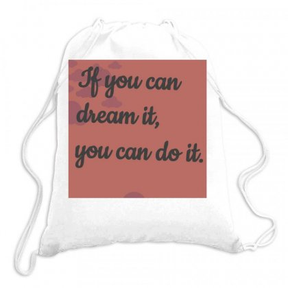 Dream Drawstring Bags Designed By Vj575789
