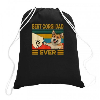 Corgi Dad Drawstring Bags Designed By Disgus_thing
