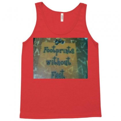 Foot Prints Of Great Man Tank Top Designed By Harshsharma.spide