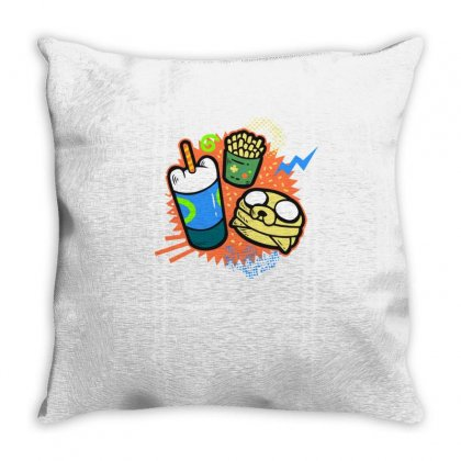 Adventure Meal Throw Pillow Designed By Igun