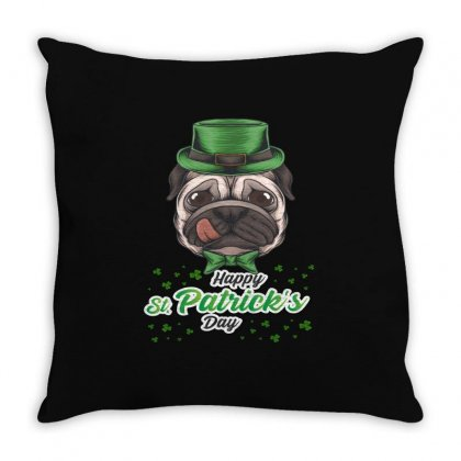 Dog St Patricks Throw Pillow Designed By Vanshop99