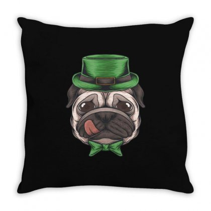 Pug Leprechaun Throw Pillow Designed By Vanshop99