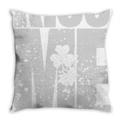 Kiss Me I'm Polish - Funny St Patricks Day Throw Pillow Designed By Jetstar99