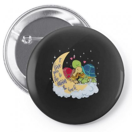 Turtle I Love You To The Moon And Back T Shirt Pin-back Button Designed By Hoainv