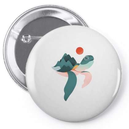 Turtle Sunset Pin-back Button Designed By Hoainv