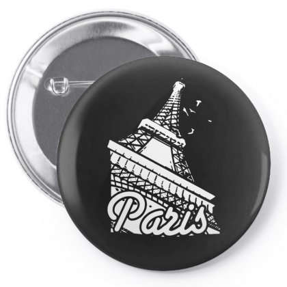 Paris France Eiffel Tower Pin-back Button Designed By Enjang