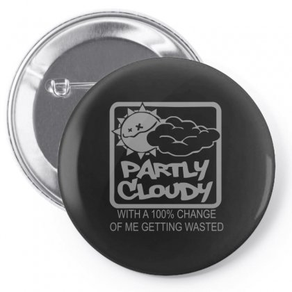 Partly Cloudy Pin-back Button Designed By Enjang