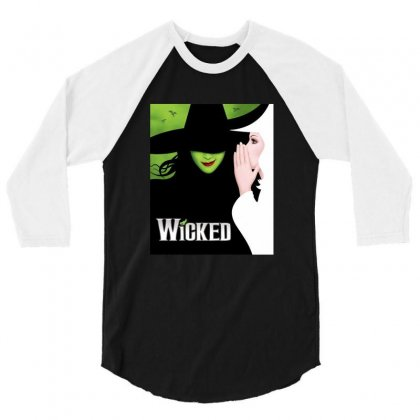 Wicked Tour 3/4 Sleeve Shirt Designed By Gandi86
