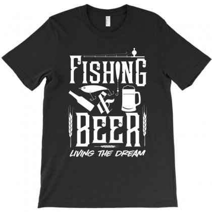 Fishing And Beer T-shirt Designed By Tiococacola