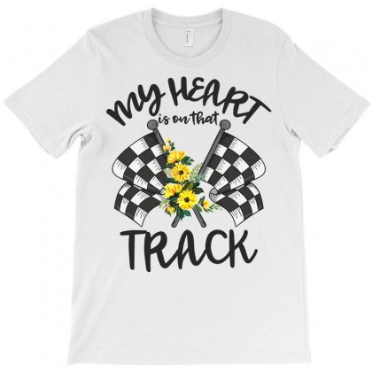My Heart Is On That Track T-shirt Designed By Neset