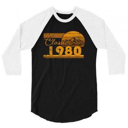 40th Birthday Classic 1980 40 Year Awesome 3/4 Sleeve Shirt Designed By Beautifulcatshop