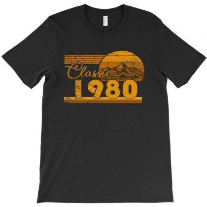 40th Birthday Classic 1980 40 Year Awesome T-shirt Designed By Beautifulcatshop