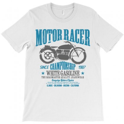 Vintage Biker Motorcycle Racer Speed Retro Road T-shirt Designed By Designisfun