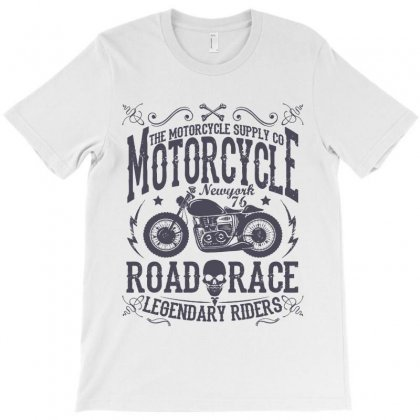 Biker Motorcycle Racer Speed Vintage Retro T-shirt Designed By Designisfun