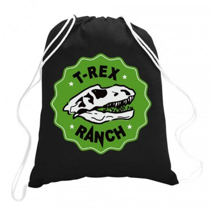 T Rex Cool Drawstring Bags Designed By Leo Art