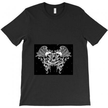 Winged Skull With Snake Vector Dme673(1) T-shirt Designed By Linda