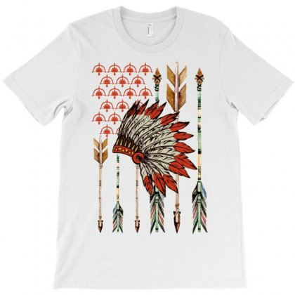 American Flag Tribe T-shirt Designed By Neset
