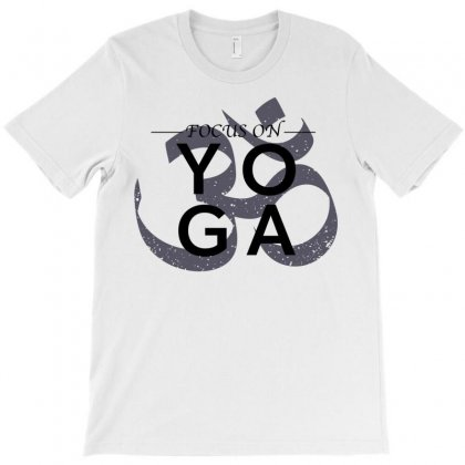 Focus On Yoga For Light T-shirt Designed By Neset