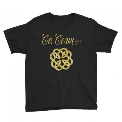 County Clare Ireland Heritage T Shirt, Saint Patrick's Day Youth Tee Designed By Hoainv