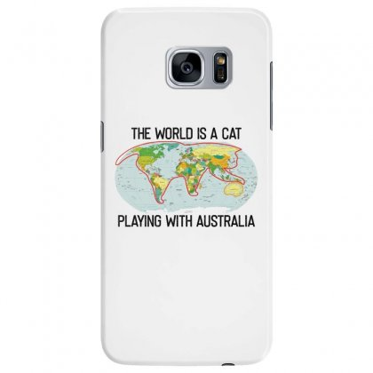 The World Is A Cat Playing With Australia 2020 Shirt Samsung Galaxy S7 Edge Case Designed By Faical