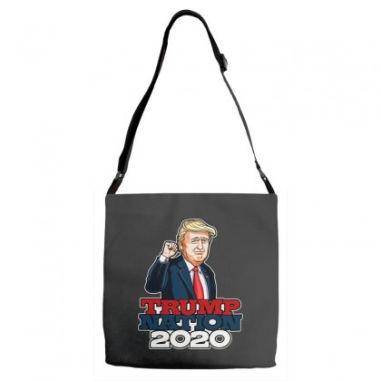 Trump Nation 2020 Adjustable Strap Totes Designed By Tiococacola