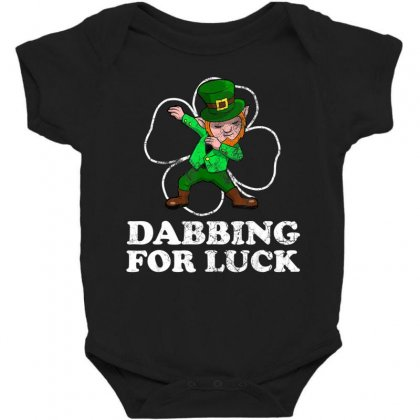 Dabbing Leprechaun For Luck St. Patrick's Day T Shirt Baby Bodysuit Designed By Hoainv
