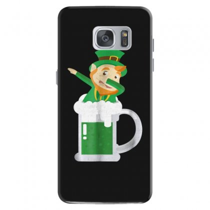 Dabbing Leprechaun Inside A Beer   St Patricks Day Shirt Samsung Galaxy S7 Case Designed By Hoainv