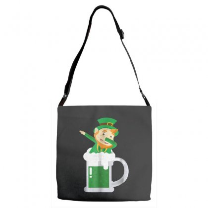 Dabbing Leprechaun Inside A Beer   St Patricks Day Shirt Adjustable Strap Totes Designed By Hoainv