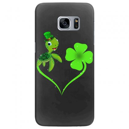 Four Leaf Clovers St Patricks Day Gift  Lucky Lucky Turtle Samsung Galaxy S7 Edge Case Designed By Hoainv