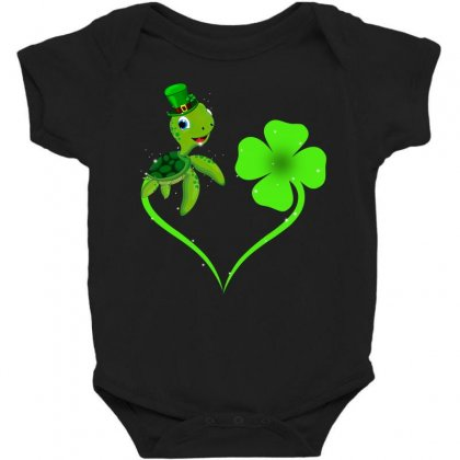 Four Leaf Clovers St Patricks Day Gift  Lucky Lucky Turtle Baby Bodysuit Designed By Hoainv