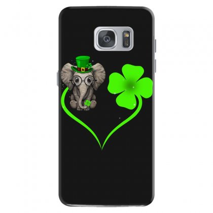 Four Leaf Clovers St. Patrick's Day Gift  Lucky  Elephant Samsung Galaxy S7 Case Designed By Hoainv