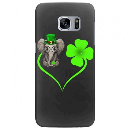 Four Leaf Clovers St. Patrick's Day Gift  Lucky  Elephant Samsung Galaxy S7 Edge Case Designed By Hoainv