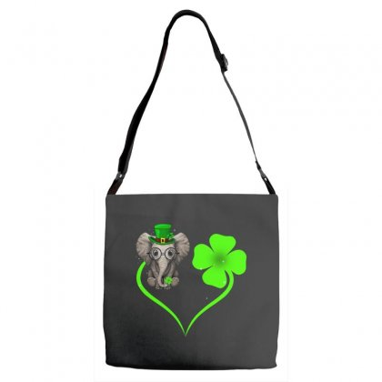 Four Leaf Clovers St. Patrick's Day Gift  Lucky  Elephant Adjustable Strap Totes Designed By Hoainv