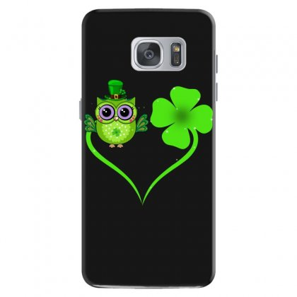 Four Leaf Clovers St. Patrick's Day Gift  Lucky  Owl Samsung Galaxy S7 Case Designed By Hoainv
